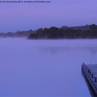 Buy canvas prints of Mist on Lough Erne by John McCoubrey