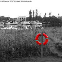 Buy canvas prints of Lough Erne Life Ring by John McCoubrey