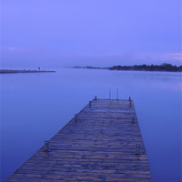 Buy canvas prints of Lough Erne Jetty at Dawn by John McCoubrey
