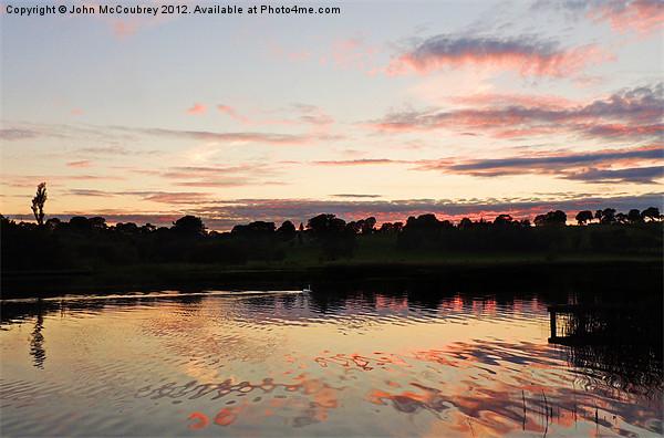 Lough Erne in County Fermanagh Canvas print by John McCoubrey