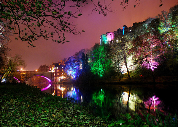Durham lumiere lights Canvas print by eric carpenter