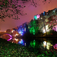 Buy canvas prints of Durham lumiere lights by eric carpenter