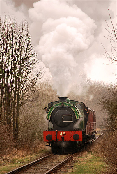 Tanfield Express Canvas print by eric carpenter