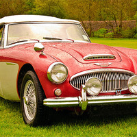 Buy canvas prints of Austin Healey calssic sports car by eric carpenter