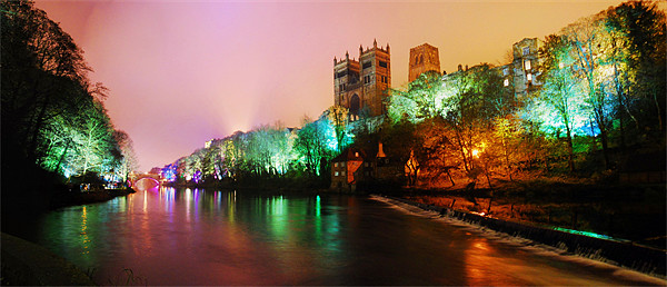 Durham lumiere panorama Canvas Print by eric carpenter