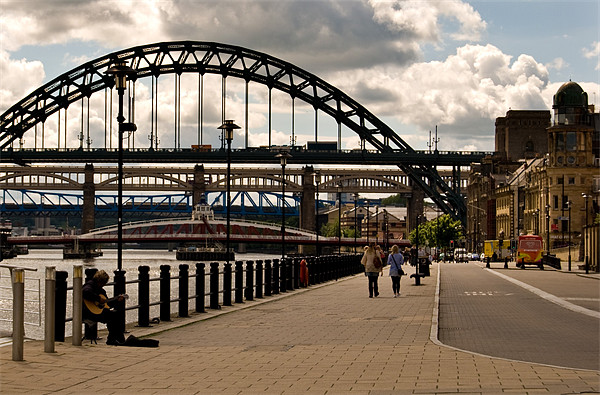 newcastle quayside Canvas print by eric carpenter