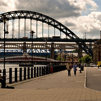 Buy canvas prints of newcastle quayside by eric carpenter