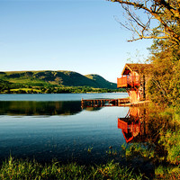 Buy canvas prints of Duke of Portlands boathouse Ullswater by eric carpenter