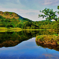 Buy canvas prints of Rydal Reflect by eric carpenter