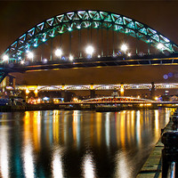 Buy canvas prints of Tyne Bridge Night by eric carpenter