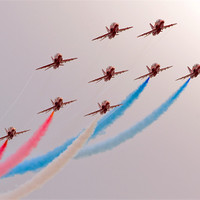 Buy canvas prints of Red Arrows by eric carpenter