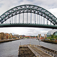 Buy canvas prints of Tyne Bridge Panorama by eric carpenter