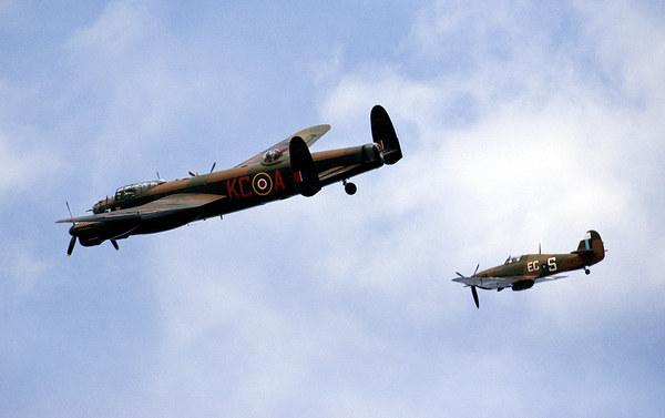 Battle of Britain flight Canvas Print by eric carpenter
