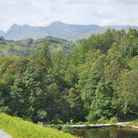 Buy canvas prints of langdales from tarn hows by eric carpenter