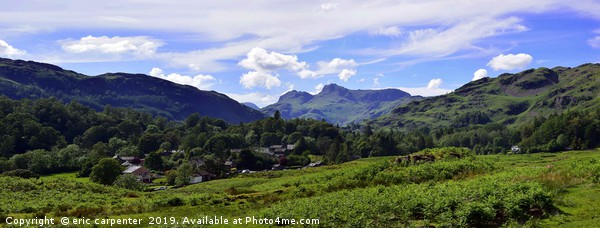 Langdale pike from Elterwater Canvas Print by eric carpenter