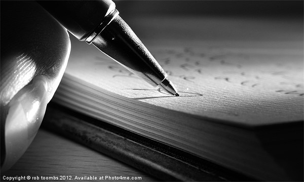 PUTTING PEN TO PAPER Canvas print by Art Exclusive