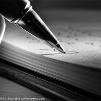 Buy canvas prints of PUTTING PEN TO PAPER by Art Exclusive