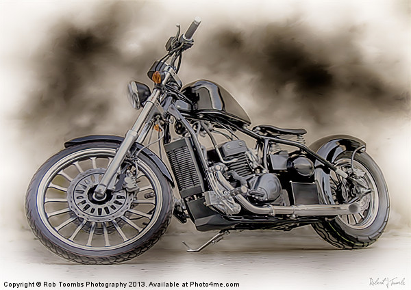 THE CUSTOM BOBBER PAINTING Canvas print by Art Exclusive