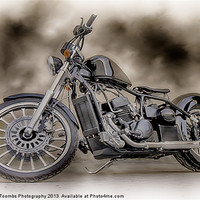 Buy canvas prints of THE CUSTOM BOBBER PAINTING by Art Exclusive