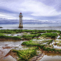 Buy canvas prints of  perch rock by susan davies