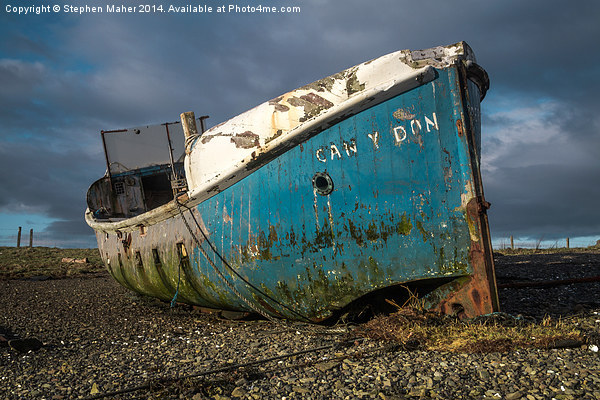 Blue Wreck on Skye Canvas print by Stephen Maher