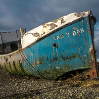 Buy canvas prints of  Blue Wreck on Skye by Stephen Maher