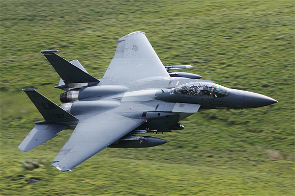 F15 E fighter jet Canvas print by peter lewis