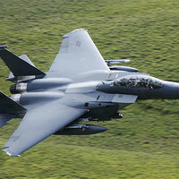 Buy canvas prints of F15 E fighter jet by peter lewis