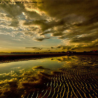 Buy canvas prints of My beach at sunset by jane dickie