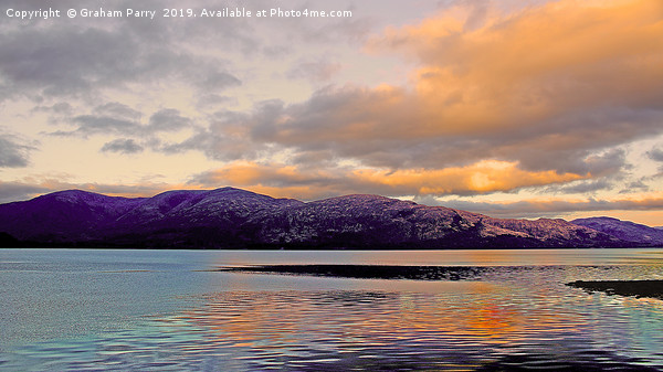 Scottish Loch Canvas print by Graham Parry