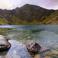 Buy canvas prints of Llyn Cau by Graham Parry