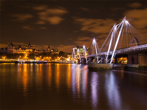 Hungerford Bridge London Print by Clive Eariss