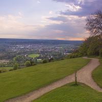 Buy canvas prints of View To Dorking by Clive Eariss