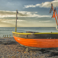 Buy canvas prints of  Little Fishing Boat by Clive Eariss