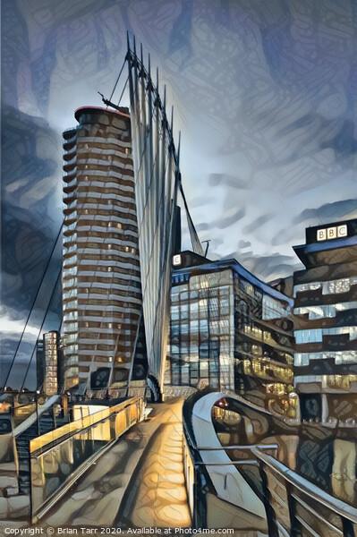 Gateway to Media City, Canvas Print by Brian Tarr