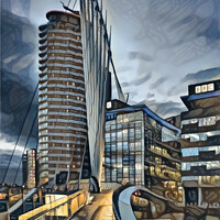 Buy canvas prints of Gateway to Media City, by Brian Tarr