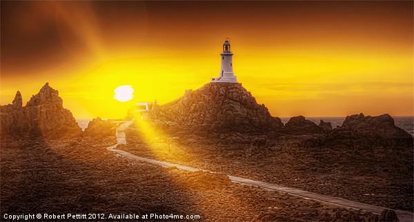 Lighthouse and Sunbeams Canvas print by Robert Pettitt