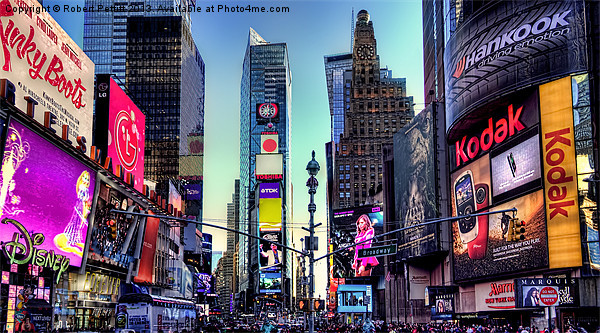 Time Square Canvas Print by Robert Pettitt