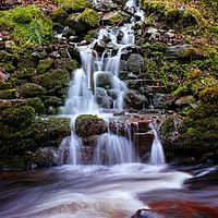 Buy canvas prints of Waterfall at Reelig by Macrae Images