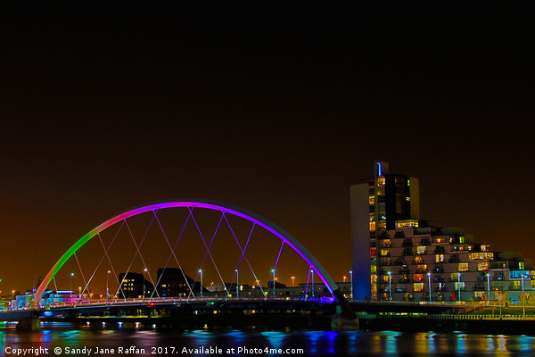 Clyde Bridge Glasgow Canvas print by Sandy Jane Raffan