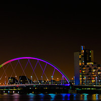 Buy canvas prints of Clyde Bridge Glasgow by Sandy Jane Raffan