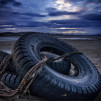 Buy canvas prints of Tyred on the Beach by Fraser Hetherington
