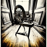 Buy canvas prints of The Spinning Wheel by Fraser Hetherington