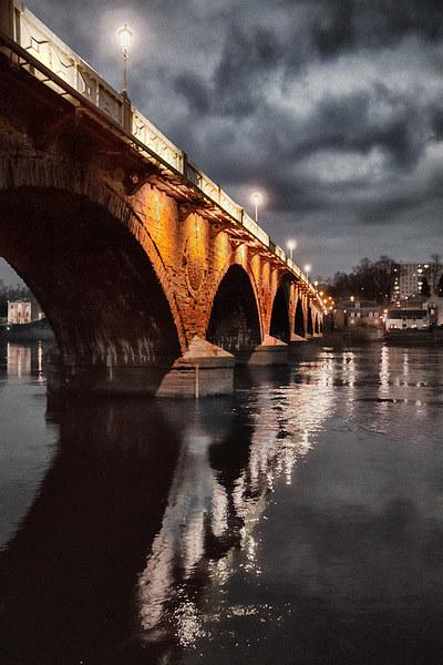 Smeaton Bridge Canvas print by Fraser Hetherington