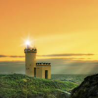 Buy canvas prints of  Magical Light House by Fraser Hetherington