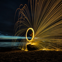 Buy canvas prints of  Tay Fire Wheel by Fraser Hetherington