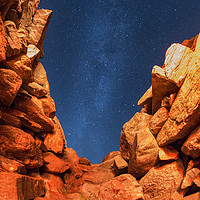 Buy canvas prints of Milky Way Cairn by Fraser Hetherington