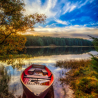 Buy canvas prints of Boat on Loch Scoly  by Fraser Hetherington