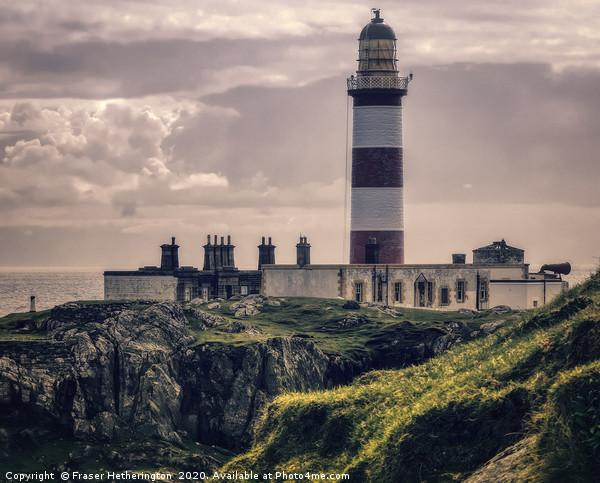 Eilean Glas Lighthouse Canvas Print by Fraser Hetherington