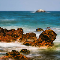 Buy canvas prints of Dunbar Rocks by Fraser Hetherington